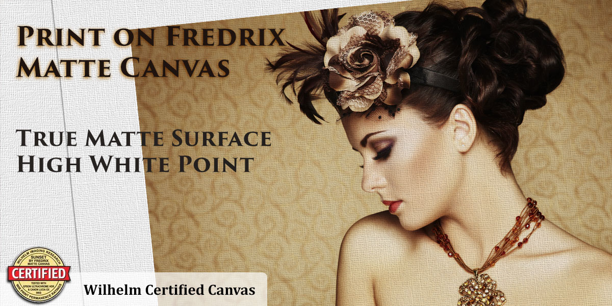 Print Your Art on Sunset Matte Canvas by Fredrix