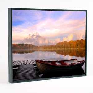 24x36 framed canvas black