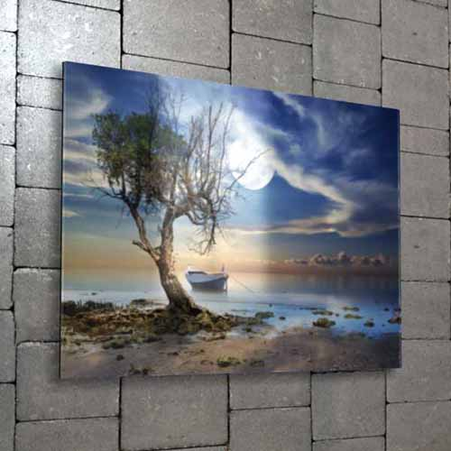 "Create an ultra-modern and sleek display with your photography or artwork. Your print will be mounted and displayed behind ¼"" thick acrylic."