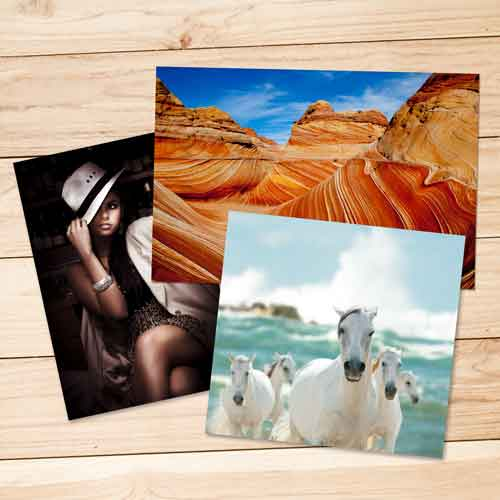 Order standard photo printing servcies on glossy, matte, lustre, and metallic surfaces, printed on Kodak ENDURA professional papers.